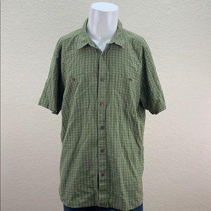 Mens Patagonia Green Short Sleeve Button Up Shirt